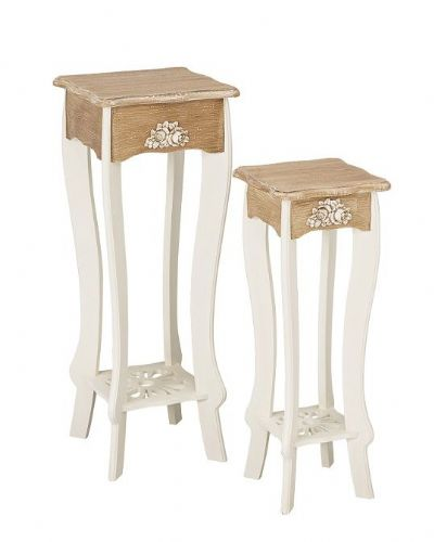 Marseilles White Set of Plant Stands